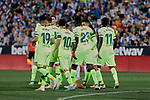 FC Barcelona's players celebrate goal during La Liga match between CD Leganes and FC Barcelona at Butarque Stadium in Madrid, Spain. September 26, 2018. (ALTERPHOTOS/A. Perez Meca)