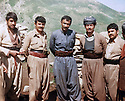 Iraq 1981 .In Tujela, on the border between Iraq and Iran,2nd from left Azad Sagerman , 3rd, Nou Shirwan.<br />