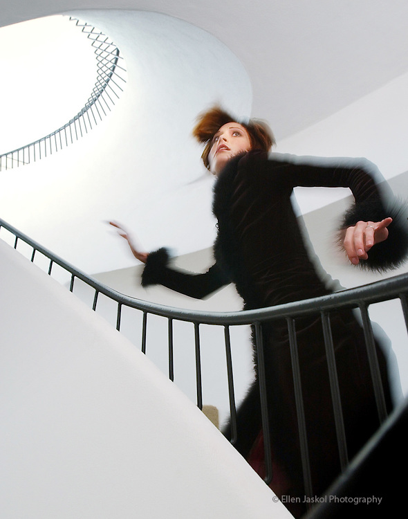 Sept 5, 2002.  James Bond fashion at the Sculptured House on Genesee Mountain. Paris Carver.  Photos by Ellen Jaskol.....