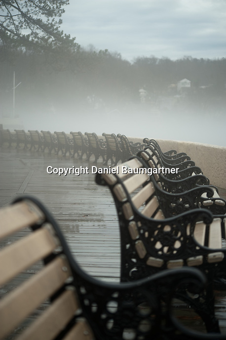Benches in Fog