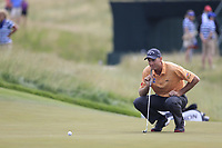 Jim Furyk (USA) on the 4th green during Friday's Round 2 of the 117th U.S. Open Championship 2017 held at Erin Hills, Erin, Wisconsin, USA. 16th June 2017.<br /> Picture: Eoin Clarke | Golffile<br /> <br /> <br /> All photos usage must carry mandatory copyright credit (&copy; Golffile | Eoin Clarke)