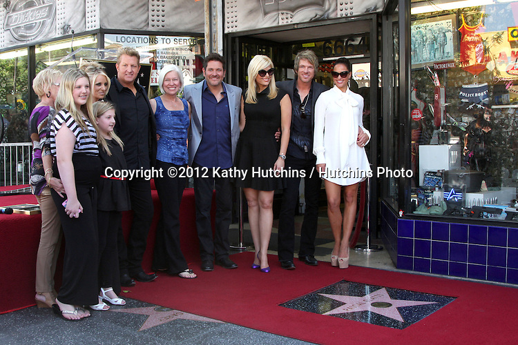 LOS ANGELES - SEP 17:  Rascal Flatts, Family at the Hollywood Walk of Fame Star Ceremony for Rascal Flatts at Hollywood Boulevard on September 17, 2012 in Los Angeles, CA