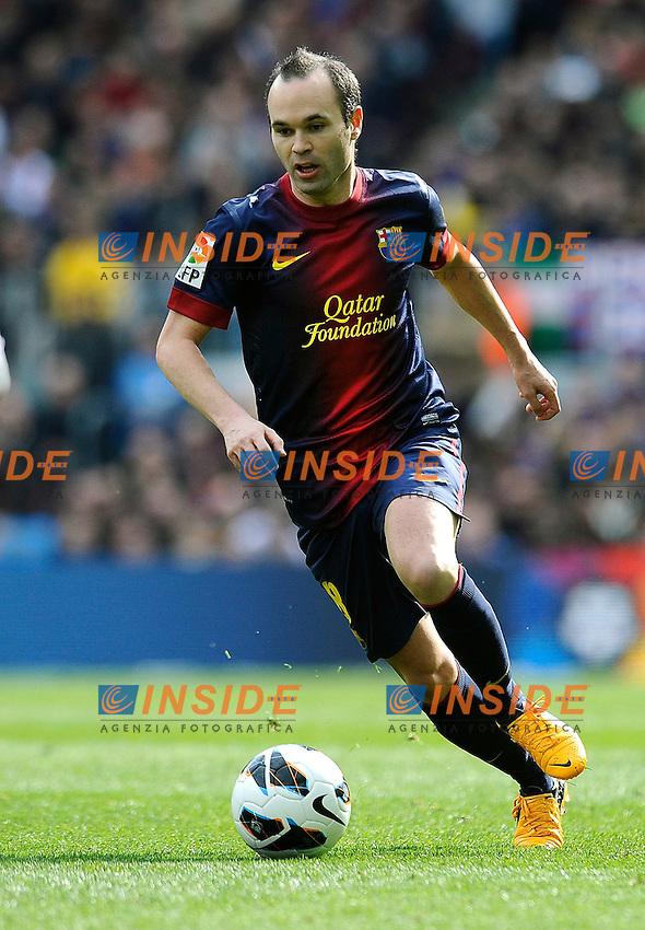 Barcellona-Getafe-.10-02-2013-.Andres Iniesta ( Barcellona )..Action .Football Calcio 2012/2013 La Liga Spagna .Barcellona Vs Getafe .Foto Panoramic / Insidefoto .ITALY ONLY