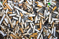 No Smoking rules mean smokers have to discard cigarette and cigar butts, Florida, United States of America