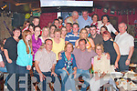 Breda and Kieran Kelly,seated centre from Ballygologue, Listowel were shocked when thy arrived at the Tanker bar on Friday night to find all their family and friend there to help then celebrate their twenty fifth wedding anniversary. ..   Copyright Kerry's Eye 2008
