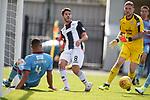 04.08.18 St Mirren v Dundee: Ryan Flynn squares to set up St Mirren's second goal