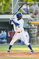 D.J. Burt (2) of the Burlington Royals at bat against the Greeneville Astros at Burlington Athletic Park on June 29, 2014 in Burlington, North Carolina.  The Royals defeated the Astros 11-0. (Brian Westerholt/Four Seam Images)
