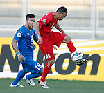 Al Jazeera vs Al Hidd during the 2015 AFC Cup 2015 Group B match on April 14, 2015 at the King Abdullah International Stadium in Amman, Jordan. Photo by Adnan Hajj / World Sport Group