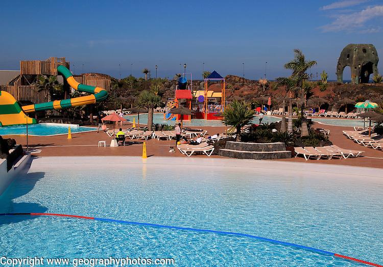 Swimming pool at Origo Mare hotel water park, Majanicho, Fuerteventura, Canary Islands, Spain