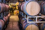 Oak wine barrells, Amador Vintners' Behind the Cellar Door wine eduction seminars and food at various Amador County wineries--Montevina Winery