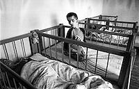During Balkan War: Home for disabled children, south of Zadar, Croatia, 1993
