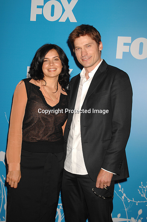 "Zuleikha Robinson and Nikolaj Coster Waldau of ""New Amsterdam""..arriving at The FOX TV Upfront on May 17, 2007 at ..Wolman Rink in Central Park in New York City. ..Robin Platzer, Twin Images........212-935-0770"