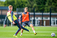 Tom Carroll ( right ) in action during the Swansea City training session at The Fairwood training Ground, Swansea, Wales, UK. Wednesday 13 September 2017