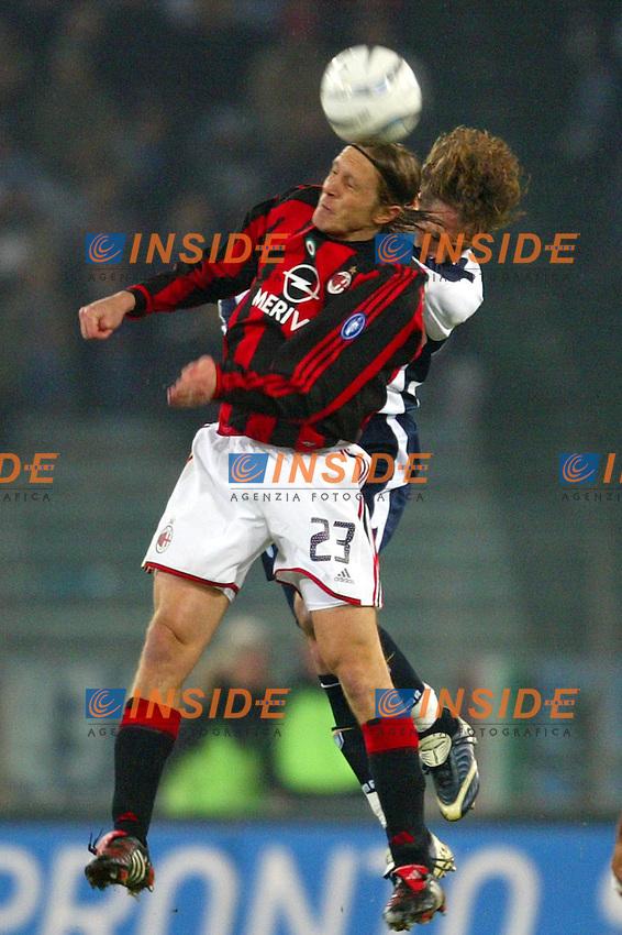 Roma 29/2/2004 Lazio Milan 0-1<br /> Massimo Ambrosini (Milan) and Sinisa Mihailovic (Lazio)<br /> Photo Andrea Staccioli Insidefoto