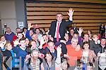 Five time champion Michael Cahill celebrates with his family and supporters in the Killlarney on Saturday night