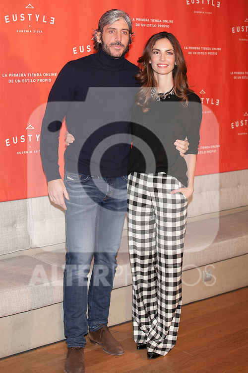 Model Eugenia Silva and Alfonso de Borbon pose during the EUSTYLE project presentation in Madrid, Spain. December 02, 2014. (ALTERPHOTOS/Victor Blanco)