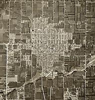 historical aerial photograph Orange, California, 1946