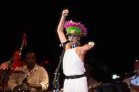 SÃO PAULO - SP. 15.02.2017 - SHOW-SP. Fernanda Abreu durante Show de Verão da Mangueira, nesta quarta-feira, 15, no Tom Brasil, zona sul de São Paulo. (Foto: Ciça Neder / Brazil Photo Press)