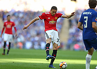 19th May 2018, Wembley Stadium, London, England; FA Cup Final football, Chelsea versus Manchester United; Nemanja Matic of Manchester United taking a shot on goal as United push for an equaliser