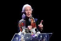 Jane Goodall<br /> Roma 11/05/2017. Lectio Magistralis dell'etologa Jane Goodall, ospite al National Geographic Festival delle Scienze<br /> Rome 11th May 2017. Lectio Magistralis of the ethologist Jane Goodall, guest at the National Geographic Science Festival 2017.<br /> Foto Samantha Zucchi Insidefoto