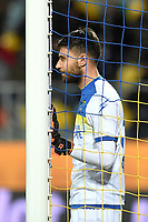 Marco Sportiello of Frosinone reacts during the Serie A 2018/2019 football match between Frosinone and Lazio at stadio Benito Stirpe, Frosinone, February 4, 2019 <br />  Foto Andrea Staccioli / Insidefoto