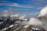Clouds passing in front of the Alps, from Klein Matterhorn, near Zermatt, Switzerland
