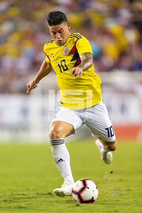 Tampa, FL - Thursday, October 11, 2018: James Rodriguez during a USMNT match against Colombia.  Colombia defeated the USMNT 4-2.