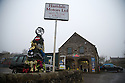 16/12/16<br /> <br /> If you're 'tyred' of seeing boring Christmas trees then here's one that's wheely great. Made from a selection of tractor, lorry and car tyres, the 12 foot creation on the forecourt of Hartdale Motors in the village of Hartington in the Derbyshire Peak District is topped off with star-shaped wheel rim.<br /> <br /> All Rights Reserved F Stop Press Ltd. +44 (0)1773 550665