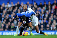 Eden Hazard of Chelsea tries to shake off a challenge from Fulham's Denis Oboi during Chelsea vs Fulham, Premier League Football at Stamford Bridge on 2nd December 2018
