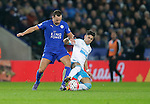 Danny Drinkwater of Leicester City competes with Ayoze Perrez of Newcastle during the Barclays Premier League match at The King Power Stadium.  Photo credit should read: Malcolm Couzens/Sportimage