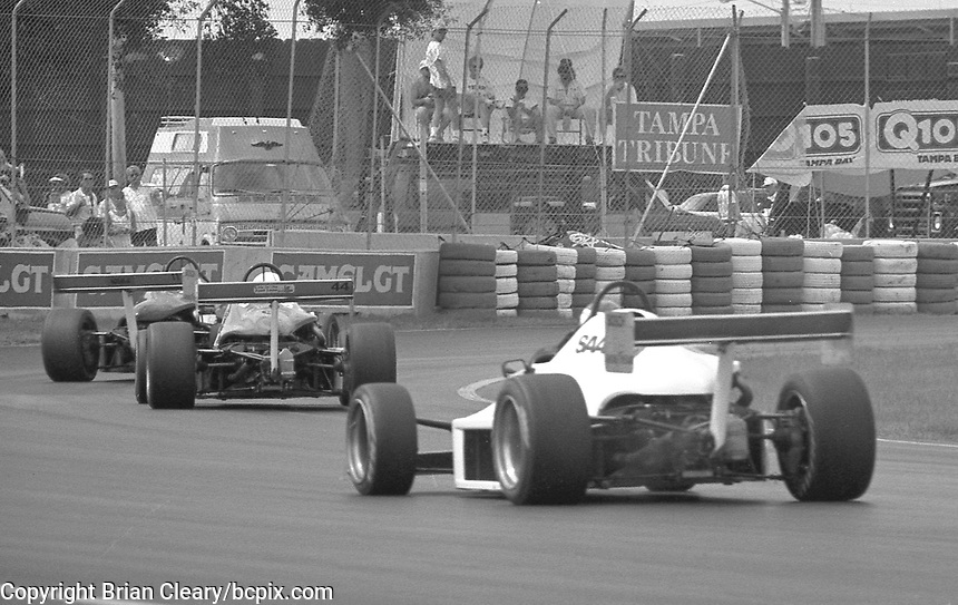 Barber Saab Action during a support race before  the IMSA GTP/Lights race at the Florida State Fairgrounds in Tampa, FL, October 1, 1989. (Photo by Brian Cleary/www.bcpix.com)