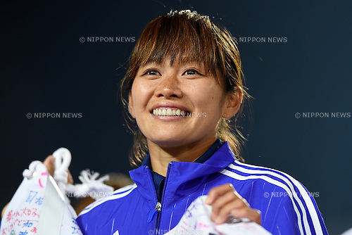 Nahomi Kawasumi (JPN), MAY 24, 2015 - Football / Soccer : MS&AD Nadeshiko Cup 2015 match between Japan 1-0 New Zealand at Marugame Stadium, Kagawa, Japan. (Photo by AFLO SPORT)