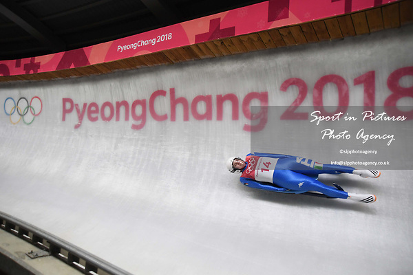 Kevin Fischnaller (ITA). Mens luge. Pyeongchang2018 winter Olympics. Alpensia sliding centre. Alpensia. Gangneung. Republic of Korea. 11/02/2018. ~ MANDATORY CREDIT Garry Bowden/SIPPA - NO UNAUTHORISED USE - +44 7837 394578