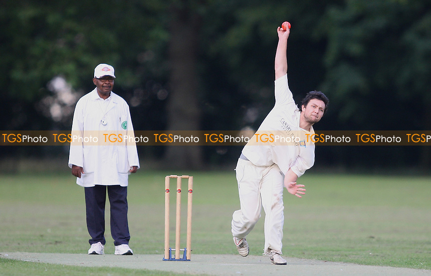 -London Tigers CC v Tower Hamlets CC (bowling)- Victoria Park Community Cricket League Cup Final - 09/08/12 - MANDATORY CREDIT: George Phillipou/TGSPHOTO - Self billing applies where appropriate - 0845 094 6026 - contact@tgsphoto.co.uk - NO UNPAID USE.