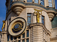 astronomische Uhr, Jugendstilhaus am Europaplatz, Batumi, Adscharien - Atschara, Georgien, Europa<br /> astronomical clock, Art Nouveau Villa at Europe Square,  Batumi, Adjara,  Georgia, Europe