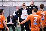 22.03.2018, Max Schmeling Halle, Berlin<br />Volleyball, 2018 CEV Volleyball Champions League, Achtelfinale, VfB Friedrichshafen vs. Berlin Recycling Volleys (GER)<br /><br />Stelian Moculescu (Trainer / Coach Berlin) enttŠuscht / enttaeuscht / traurig <br /><br />  Foto &copy; nordphoto / Kurth