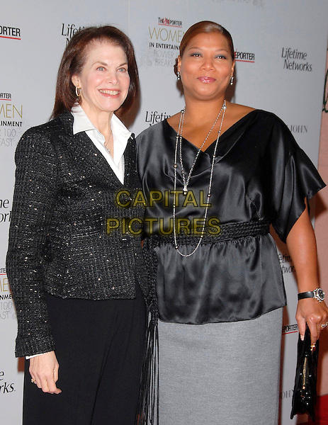 SHERRY LANSING & QUEEN LATIFAH.Attends The 16th Annual Women in Entertainment Breakfast held at The Beverly Hills Hotel in Beverly Hills, California, USA, December 04 2007.                                                                  half length.CAP/DVS.©Debbie VanStory/Capital Pictures