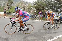 Winner Anaconda and Robert Gesink during the stage of La Vuelta 2012 between Lleida-Lerida and Collado de la Gallina (Andorra).August 25,2012. (ALTERPHOTOS/Paola Otero) /NortePhoto.com<br /> <br /> **CREDITO*OBLIGATORIO** <br /> *No*Venta*A*Terceros*<br /> *No*Sale*So*third*<br /> *** No*Se*Permite*Hacer*Archivo**<br /> *No*Sale*So*third*