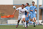 06 September 2009: Evansville's Tom Irvin (13) and UNC's Drew McKinney (23). The University of North Carolina Tar Heels defeated the Evansville University Purple Aces 4-0 at Fetzer Field in Chapel Hill, North Carolina in an NCAA Division I Men's college soccer game.