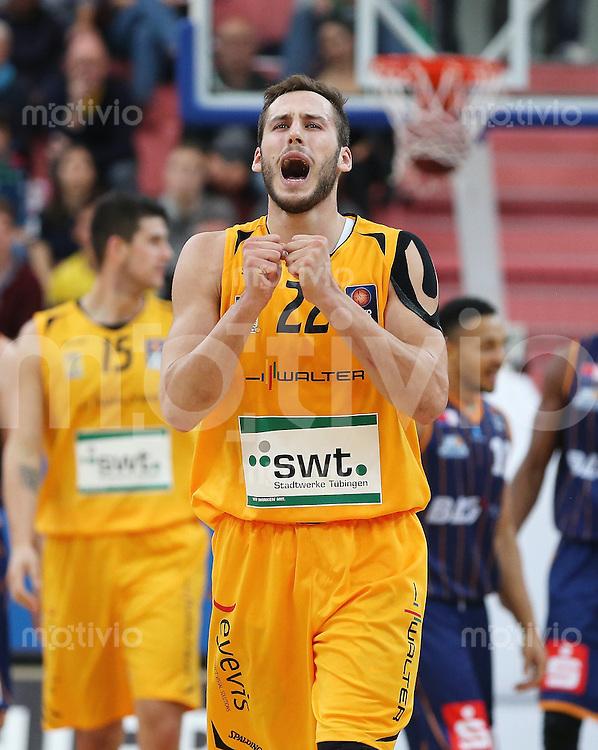 Basketball  1. Bundesliga  2015/2016  Hauptrunde  3. Spieltag  10.10.2015 Walter Tigers Tuebingen - Eisbaeren Bremerhaven Vladimir Mihailovic (Tigers) enttaeuscht