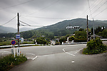 Namie, May 31 2011 - .(Eng) A crossing in the ghost village of Namie, one of the most seriously hit by radioactivity..(fr) Un croisement fantome dans un des villages les plus touches par les retombees radioactives.