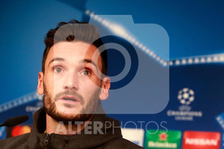 Tottenham Hotspur FC's Hugo Lloris in press conference before training session. October 16,2017.(ALTERPHOTOS/Acero)