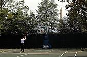 United States President Barack Obama shoots hoops on the White House Basketball Court, Friday, May 7, 2010. .Mandatory Credit: Pete Souza - White House via CNP