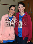 Ruth Daly and Sorcha Lynch who took part in the Seamie Weldon memorial run at St. Mary's GAA club Ardee. Photo:Colin Bell/pressphotos.ie
