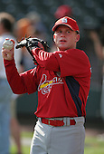 David Eckstein of the St. Louis Cardinals vs. the Atlanta Braves March 16th, 2007 at Champion Stadium in Orlando, FL during Spring Training action.  Photo copyright Mike Janes Photography 2007.
