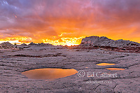 Sunset, Reflections, Sandstone Formations, White Pocket, Vermillion Cliffs National Monument, Paria Plateau, Arizona
