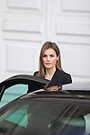 Princess Letizia of Spain leaves the state funeral for former Spanish prime minister Adolfo Suarez at the Almudena Cathedral in Madrid, Spain. March 31, 2014. (ALTERPHOTOS/Victor Blanco)