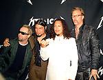 Metallica 2003 Lars Utrich, Robert Trujillo, Kirk Hammett and James Hetfield at MTV Icons