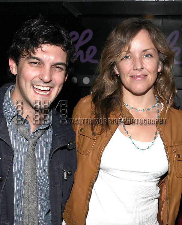 Wesley Taylor and Alice Ripley attend the opening night performance reception for the Keen Company production of Marry Me A Little at the Clurman Theatre in New York City on10/2/2012.