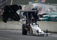 Oct. 6, 2012; Mohnton, PA, USA: NHRA top alcohol dragster driver Rich McPhillips during the Auto Plus Nationals at Maple Grove Raceway. Mandatory Credit: Mark J. Rebilas-